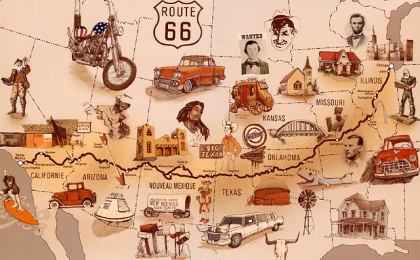 Born to be Wild! Travelling Route 66 on a Harley | Bon Voyage Blog Driving Route Map on