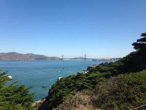 View Towards the Golden Gate Bridge