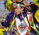 Oklahoma native american wearing traditional dress