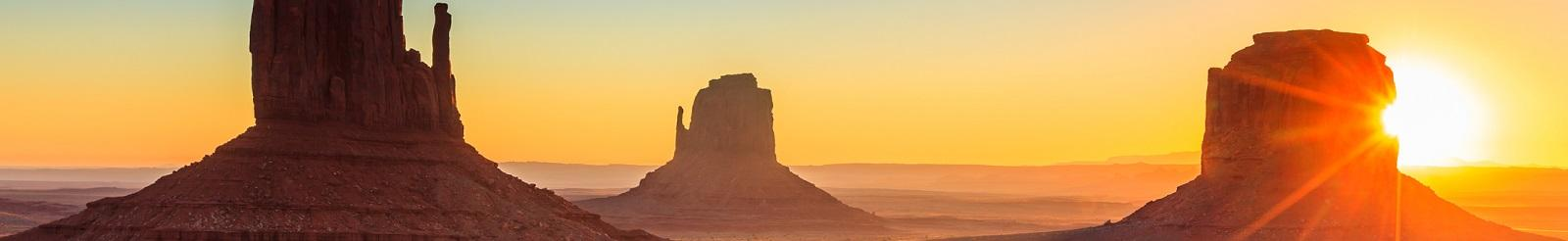 Monument valley sunrise letterbox