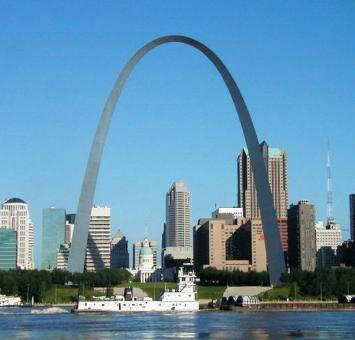 St Louis skyline and arch
