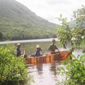 Canoing on lake Adirondack Mtns