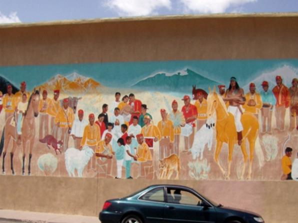 Old Town Gallup mural