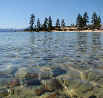 Lake Tahoe shoreline view NV