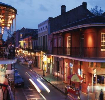 New Orleans street view at night