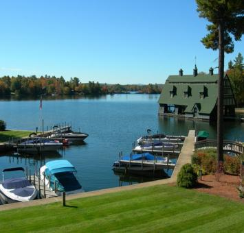Lake Winnepsaukee dock view