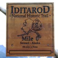 Iditarod National Trail sign AK