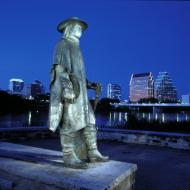 Stevie Ray Vaughan statue Austin