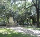 Savannah statue in park