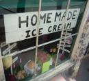 Ice cream shop window