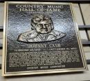 Country Music Hall of Fame Johnnie Cash plaque