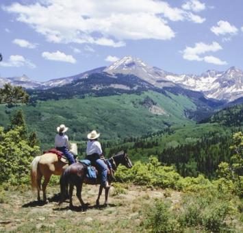 Colorado Western Couple on Horseback