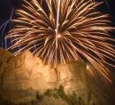 Mt Rushmore Monument and fireworks