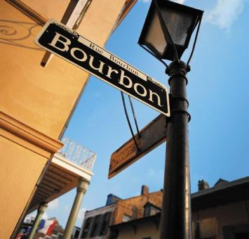 New Orleans bourbon st sign