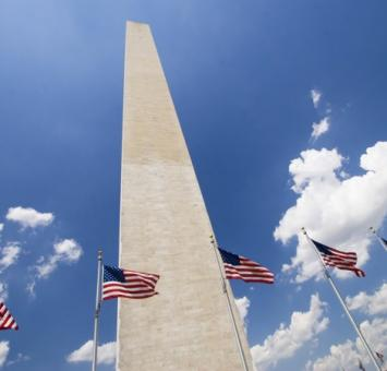 Was DC Monument and flags