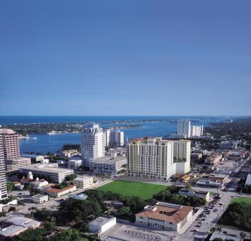 Overhead shot of West Palm Beach