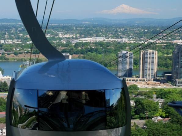 Cable car over Portland